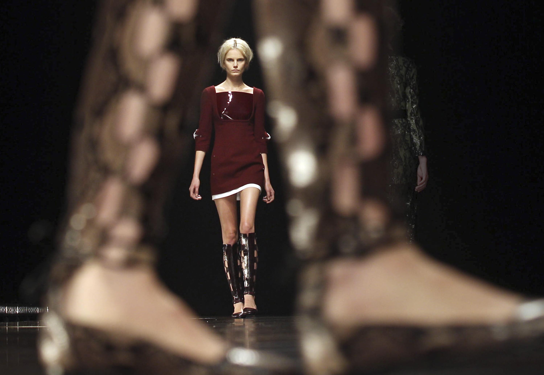 Marios Schwab Catwalk -  London Fashion Week 2013
