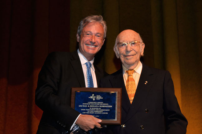 ICRF SAB MEMBER DR WALTER GOTLIEB & HONOREE MICHAL HORNSTEIN- howard kay photo